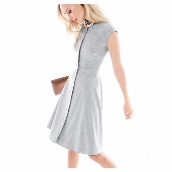 902b39a48d J. Crew Dresses   Skirts - JCrew Cap-Sleeve Shirtdress in Super 120s Wool